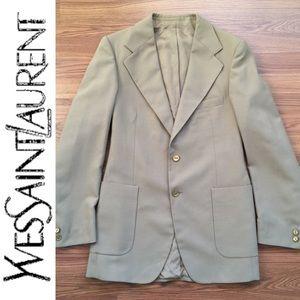 YvesSaintLaurent • YSL Logo Double Button Blazer